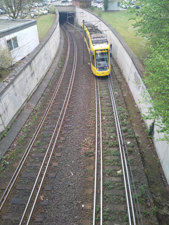 Doppelspur in Mühlheim